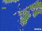 九州地方のアメダス実況(風向・風速)(2020年02月12日)