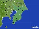 2020年02月12日の千葉県のアメダス(風向・風速)