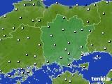 岡山県のアメダス実況(風向・風速)(2020年02月12日)