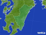 宮崎県のアメダス実況(降水量)(2020年02月13日)