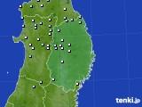 岩手県のアメダス実況(降水量)(2020年02月13日)