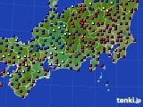 東海地方のアメダス実況(日照時間)(2020年02月13日)