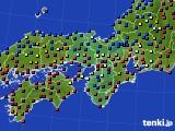 近畿地方のアメダス実況(日照時間)(2020年02月13日)