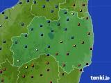 福島県のアメダス実況(日照時間)(2020年02月13日)