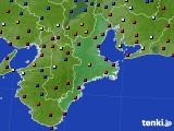 2020年02月13日の三重県のアメダス(日照時間)