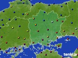 岡山県のアメダス実況(日照時間)(2020年02月13日)
