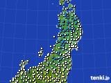 2020年02月13日の東北地方のアメダス(気温)