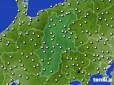 長野県のアメダス実況(気温)(2020年02月13日)
