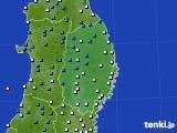 岩手県のアメダス実況(気温)(2020年02月13日)