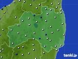 福島県のアメダス実況(風向・風速)(2020年02月13日)