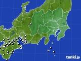 関東・甲信地方のアメダス実況(降水量)(2020年02月14日)