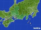 東海地方のアメダス実況(降水量)(2020年02月14日)