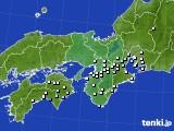近畿地方のアメダス実況(降水量)(2020年02月14日)