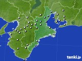 三重県のアメダス実況(降水量)(2020年02月14日)