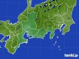 東海地方のアメダス実況(積雪深)(2020年02月14日)