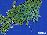関東・甲信地方のアメダス実況(日照時間)(2020年02月14日)