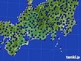 東海地方のアメダス実況(日照時間)(2020年02月14日)