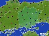 岡山県のアメダス実況(日照時間)(2020年02月14日)