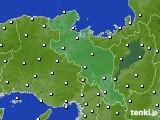 京都府のアメダス実況(気温)(2020年02月14日)