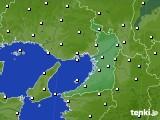 2020年02月14日の大阪府のアメダス(気温)