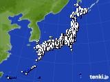 アメダス実況(風向・風速)(2020年02月14日)
