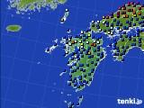 九州地方のアメダス実況(日照時間)(2020年02月15日)