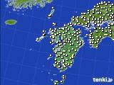 九州地方のアメダス実況(気温)(2020年02月15日)