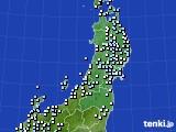 東北地方のアメダス実況(降水量)(2020年02月16日)