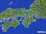 近畿地方のアメダス実況(降水量)(2020年02月16日)