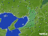 2020年02月16日の大阪府のアメダス(降水量)