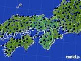 近畿地方のアメダス実況(日照時間)(2020年02月16日)