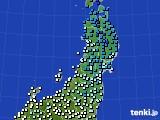 2020年02月16日の東北地方のアメダス(気温)
