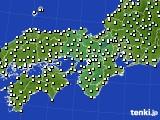 近畿地方のアメダス実況(気温)(2020年02月16日)