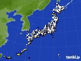 アメダス実況(風向・風速)(2020年02月16日)