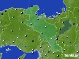 京都府のアメダス実況(風向・風速)(2020年02月16日)
