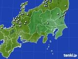 関東・甲信地方のアメダス実況(降水量)(2020年02月17日)