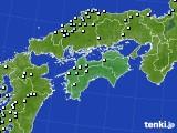 四国地方のアメダス実況(降水量)(2020年02月17日)