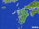 九州地方のアメダス実況(降水量)(2020年02月17日)