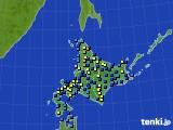 北海道地方のアメダス実況(積雪深)(2020年02月17日)