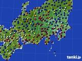 関東・甲信地方のアメダス実況(日照時間)(2020年02月17日)