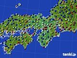 近畿地方のアメダス実況(日照時間)(2020年02月17日)