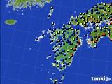九州地方のアメダス実況(日照時間)(2020年02月17日)