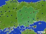 岡山県のアメダス実況(日照時間)(2020年02月17日)
