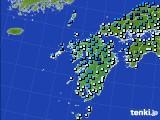 九州地方のアメダス実況(気温)(2020年02月17日)