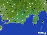 静岡県のアメダス実況(気温)(2020年02月17日)