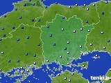 岡山県のアメダス実況(気温)(2020年02月17日)