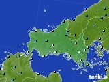 山口県のアメダス実況(気温)(2020年02月17日)