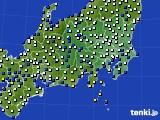 関東・甲信地方のアメダス実況(風向・風速)(2020年02月17日)