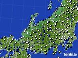 北陸地方のアメダス実況(風向・風速)(2020年02月17日)