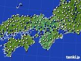 近畿地方のアメダス実況(風向・風速)(2020年02月17日)